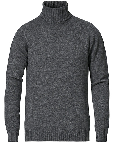 Altea Wool/Cashmere Turtleneck Sweater Grey Melange