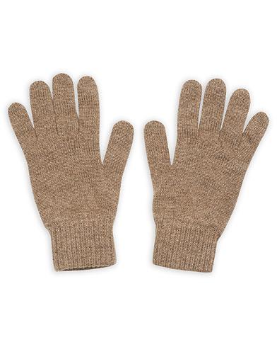Johnstons of Elgin Knitted Cashmere Gloves Otter