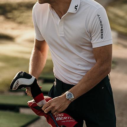 På golfklubben