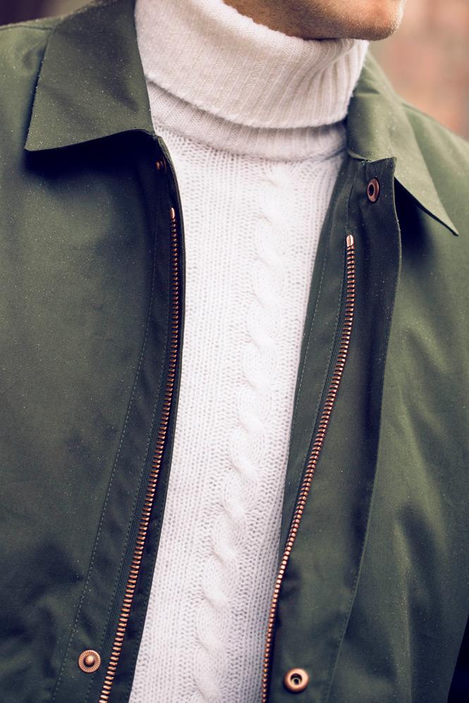 Car coat med polotröja