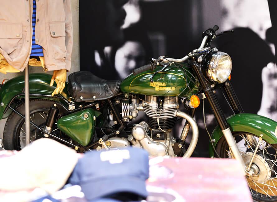 Miniatyr av en Triumph motorcykel.