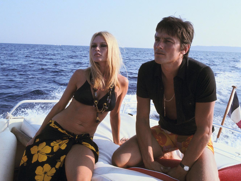 Alain Delon och Brigitte Bardot