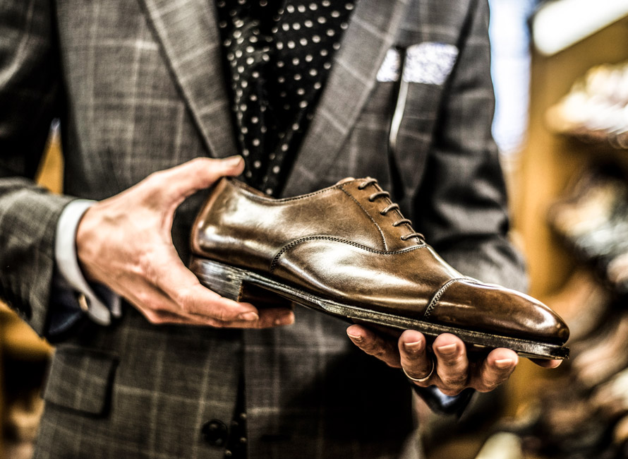 Sko i Crockett & Jones showroom
