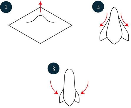Puffet foldning