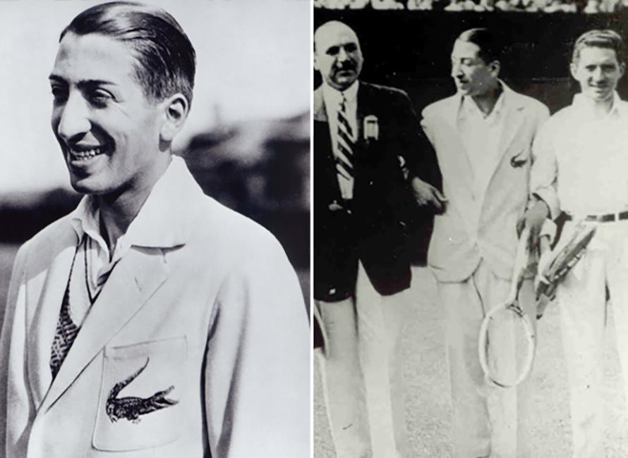 René Lacoste med krokodilprydd piké