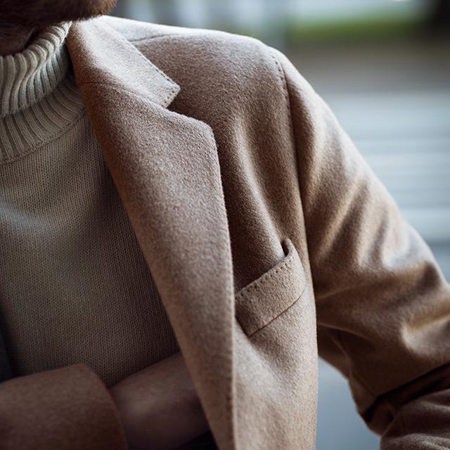 Kamelfargede frakken