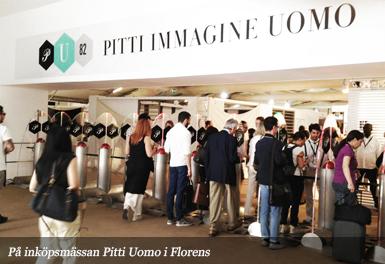 På inköpsmässan Pitti Uomo i Florens