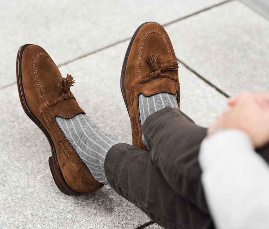 Randsydde sko